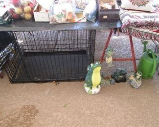 Doggie Crate & Yard Decor