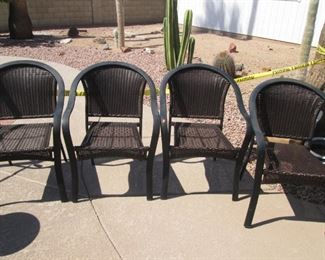 Set of 4-Patio Chairs, they Stack!