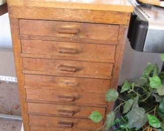 "Antique Multi-Drawer Chest, 29"" X 18"""