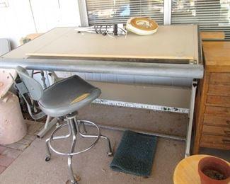 Drafting Table & Drafting Stool