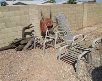 Patio Furniture and Tree Wood