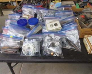 Loads of Bagged Hardware & Garage Supplies