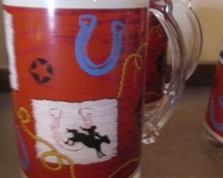 Set of 4 Cowboy-Themed Insulated Mugs