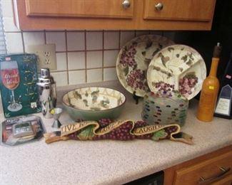 """Oneida """"Veneto"""" Hand-Painted Dishes & Bar Ware"""