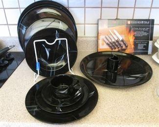 """Mikasa """"Galleria"""" Dish Set, Opus Black"""
