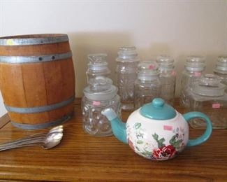 Glass Jar Collection & Cute Barrel