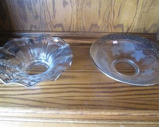 Etched Glass Bowls