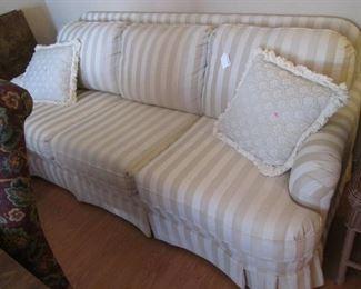"82"" Sofa in Neutral Stripe"