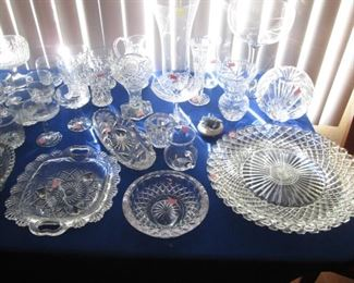 Large Array of Glassware & Crystal