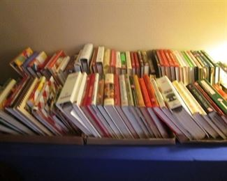Book & Magazine Selections:  Cookbooks, Woodworking, Fiction, Paperbacks, Arizona Highways, Fishing, Kids, Some Older Books