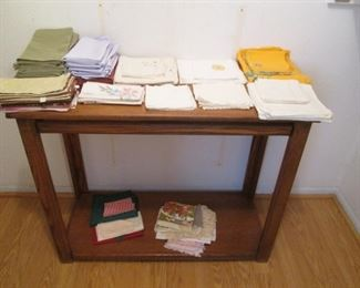 Doilies, etc. + Console Table