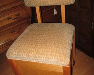 Chair on Casters with Storage