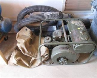 WWII-Vietnam Era Army Compressor with Canvas Cover