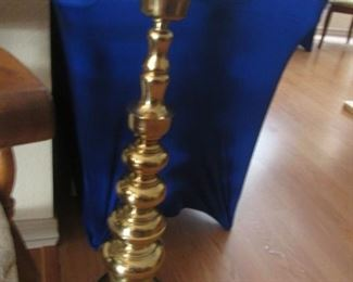 Large Floor Brass Candleholder