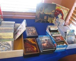 CD's, DVD's, Cassettes, VHS's