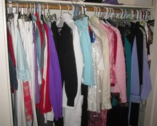 Loaded with Closets & Racks of Ladies Clothing:  Hats, Caps and Plenty of Accessories!