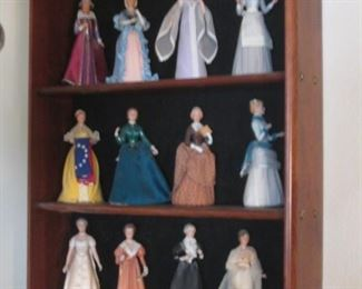 """""""Great American Women"""" Set of 12 by US Historical Society.   Porcelain & Fabric"""