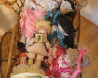 Rooms full of Dollies + 6 Antique Carriages