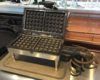 Antique waffle maker - too cool!