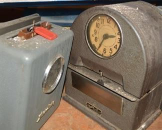 Early Vintage Time Clocks