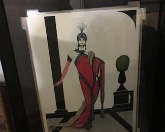 Erte Framed Print