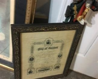 Antique Frame with Old document