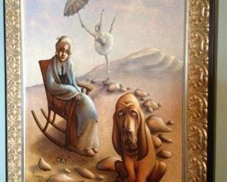 Russian artist, Oil on Canvas.