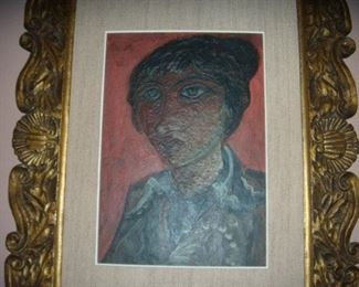 Oil on Board by listed Ukrainian artist.  Vassily Polevoy.