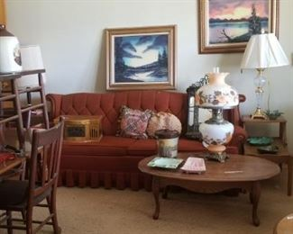 Retro couch and tables, Retro dining room set