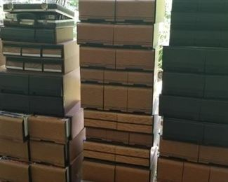Lots of VHS, DVD and CD storage
