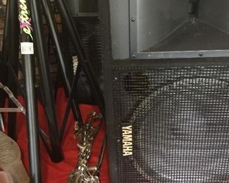 Pair of Yamaha SM151v Speakers and stands