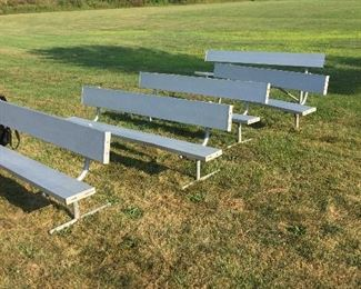 Pontiac Silverdome Player Benches.  These were used by the Detroit Lions during Barry Sanders era.