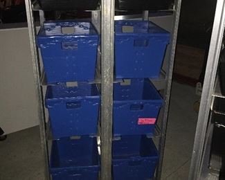 Commercial Aluminum Basket Racks 2 with extra baskets