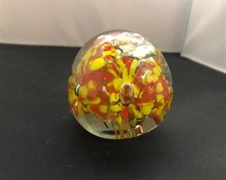 Small Glass Art Paperweight