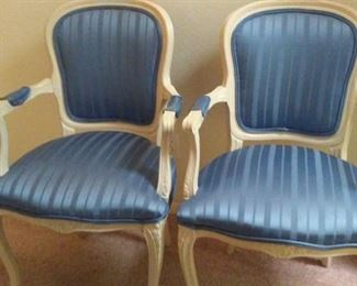 Set of 2 french provincial chairs