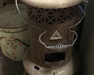 Old metal heater