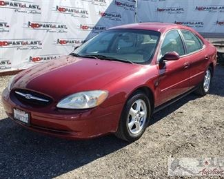 66: 2002 Ford Taurus, See Video!! This clean 2002 Ford Tarus has 187,035 miles and has power windows and doorlocks, power driver seat, leather seats, and ice cold ac. Year: 2002 Make: Ford Model: Taurus Vehicle Type: Passenger Car Mileage: 187,035 Plate: 4UWY715 Body Type: 4 Door Sedan Trim Level: SES Deluxe Drive Line: FWD Engine Type: V6, 3.0L (182 CID); DOHC Fuel Type: Gasoline Horsepower: 200-220HP Transmission: VIN #: 1FAFP55S22G137373  DMV estimated Registration: $300 for 2020 Registration and $70 for Doc fees