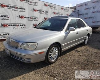 70: 2005 Hyundai XG350, Silver, See Video! Year: 2005 Make: Hyundai Model: XG350 Vehicle Type: Passenger Car Mileage: 166,581 Plate: 5RXY239 Body Type: 4 Door Sedan Trim Level: L Drive Line: FWD Engine Type: V6, 3.5L Fuel Type: Gasoline Horsepower: 194HP Transmission: Automatic VIN #: KMHFU45E55A412809  Features and Notes: Cold A/C! Power windows, locks, mirrors, and seats. CD changer in trunk. All leather interior.  DMV fees: $254 for 2020 Registration and $70 doc fees