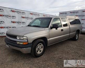 76: 2000 Chevy Silverado 1500 Extended Cab Long Bed, See Video! Year: 2000 Make: Chevrolet Model: Silverado Vehicle Type: Pickup Truck Mileage: 87,147 Plate: 6F14261 Body Type: 3 Door Cab; Extended Trim Level: Base; LS; LT Drive Line: RWD Engine Type: V8, 5.3L Fuel Type: Gasoline Horsepower: Transmission: Automatic VIN #: 1GCEC19T0YE271882  Features and Notes: Cold A/C, Like new Goodyear tires all around  DMV fees: $15 and $70 doc fees