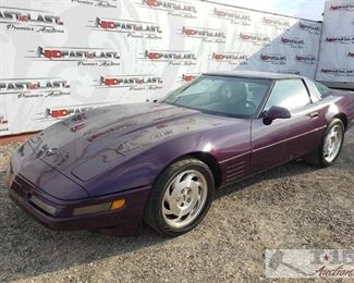 78: 1993 Chevy Corvette, Purple, See Video! Year: 1993 Make: Chevrolet Model: Corvette Vehicle Type: Passenger Car Mileage: 152,242 Plate: 3GAD575 Body Type: 2 Door Coupe Trim Level: Base Drive Line: RWD Engine Type: V8, 5.7L Fuel Type: Gasoline Horsepower: Transmission: Automatic VIN #: 1G1YY23PXP5108616  Features and Notes: Leather interior, power windows and seats. Targa top. Also has car cover  DMV fees: $162 and $70 doc fees