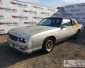 82: 1986 Chevy Monte Carlo, See Video! CURRENT SMOG Year: 1986  Make: Chevrolet  Model: Monte Carlo  Vehicle Type: Passenger Car  Mileage: 94,644  Plate: 2SGC372  Body Type: 2 Door Coupe  Trim Level: Base  Drive Line: RWD  Engine Type: V8, 5.0L  Fuel Type: Gasoline  Horsepower:  Transmission: Automatic  VIN #: 1G1GZ37G7GR119011   Features and Notes: