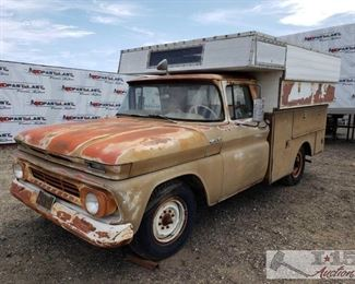 100: 1962 Chevy C20 with Service Body VIN: 2C2540128601 Mileage: 44,579 Make: Chevrolet Model: C20 Year: 1962