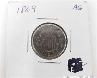 410:  1869 5 Cent Coin 1869 5 Cent Coin