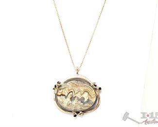 """751:  Sterling Silver Necklace, 26.7g Sterling Silver Necklace weighs approx 26.7g measures approx 13"""""""