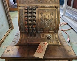 6638:  Very RARE vintage American Cash Register antique (1896) SUPER COOL! And a RARE find to boot! Patented in 1896, this is an antique ornate brass cash register American Cash Register Mfg Co. model 330. This one will sell very quickly!