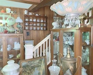 Just a few of our lamps, cups and saucers