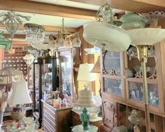 More lamps, cabinet