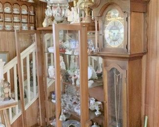 Grandfather clock, one of 2,