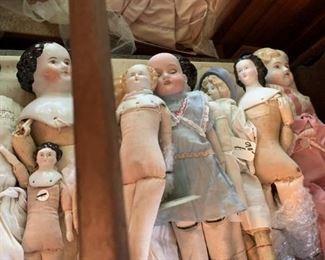 China head dolls, many german
