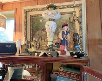 Lamp, table, art